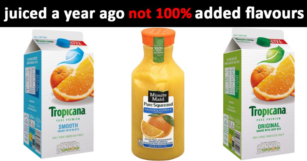 orange juice is not healthy when bought in a packet