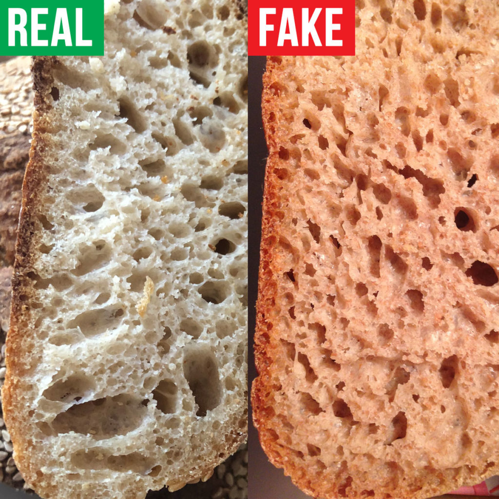 real sourdough vs fake