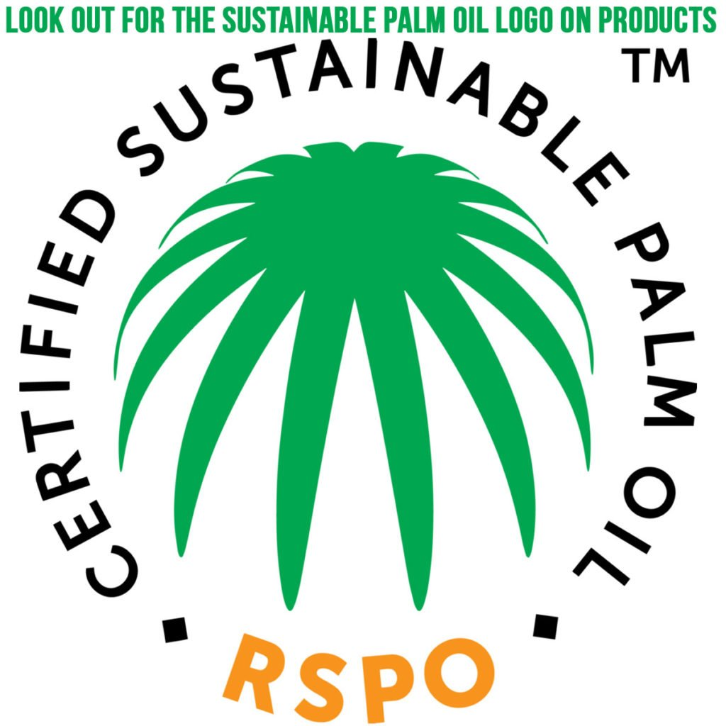 Look out for the sustainable palm oil logo on products