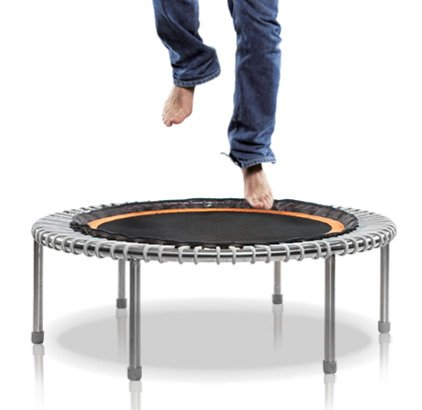 bouncing on a mini trampoline for health