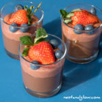 4 Ingredient Berry Chocolate Mousse – Dairy free