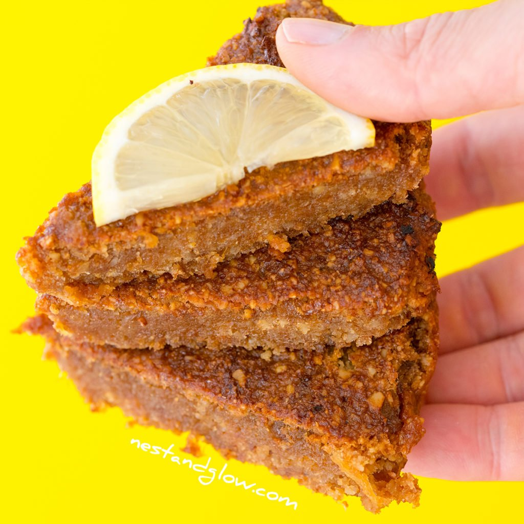 anyone even a child can make this gluten free and healthy lemon cake as after blending all that's needed is some stiring.