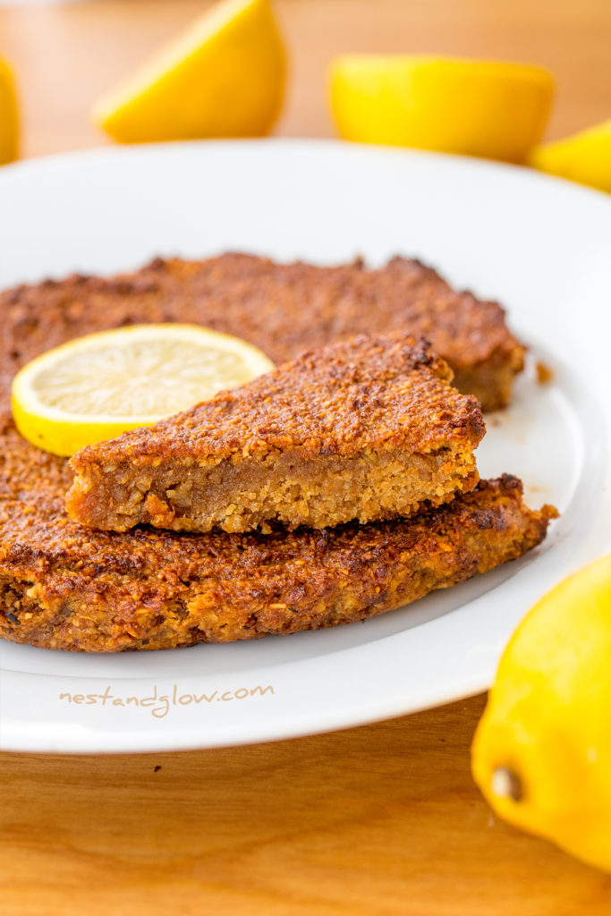 gluten free vegan lemon cake recipe that is foolproof and anyone can make. Full of healthy ingredients and sweetened only with fruit.